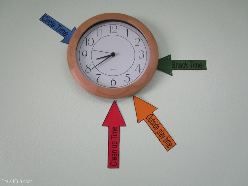 Classroom Clock Preschool Classroom Set up!