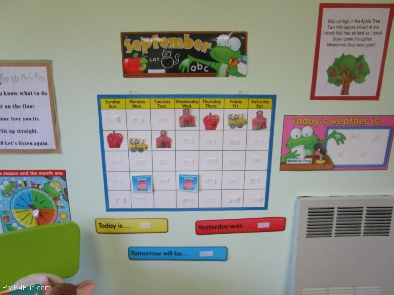 Circle Time Calendar Preschool Classroom Set up!