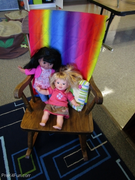 Doll rocking chair Center Preschool Classroom Set up!
