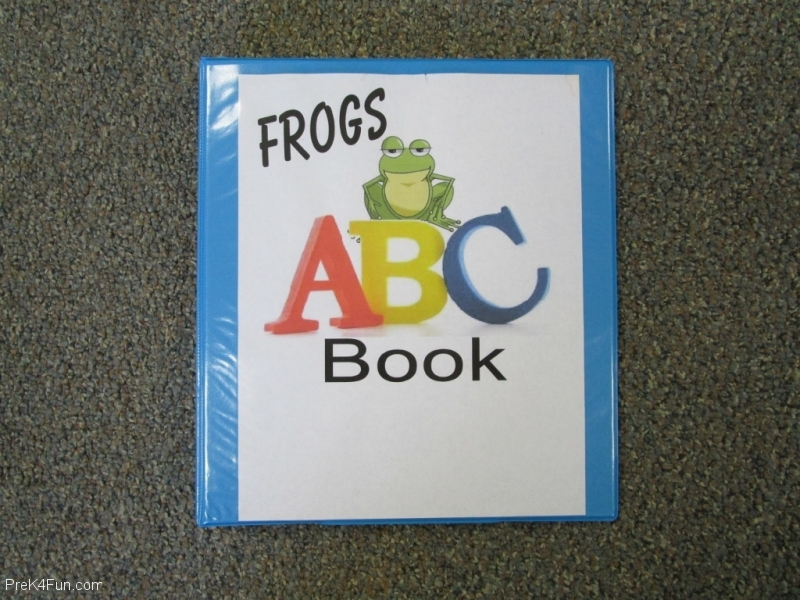 TitlePage for Frogs ABC Book