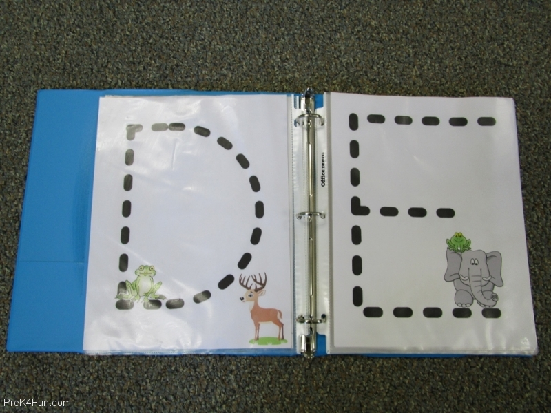 Frogs ABC Book Letter D,E
