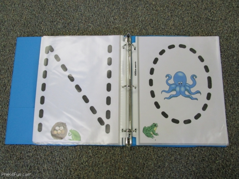 Frogs ABC Book Letter N,O