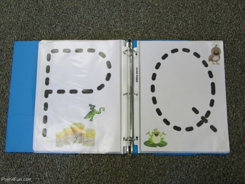 Frogs ABC Book Letter P,Q
