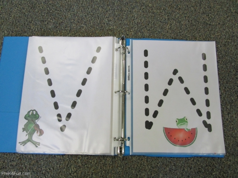 Frogs ABC Book Letter V,W