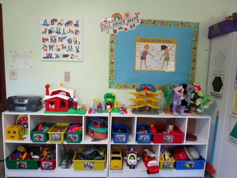 Manipulative Center Preschool Classroom Set up!