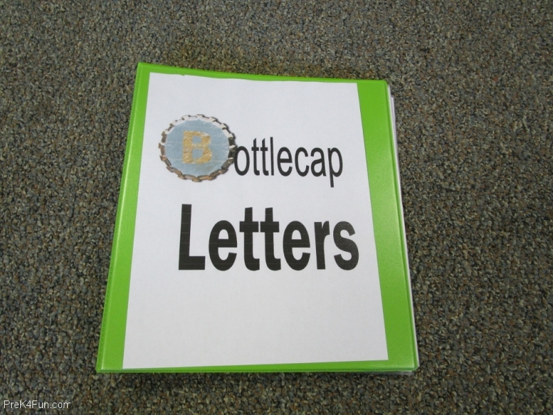 Literacy Center Bottle Cap Letters Preschool Classroom Set up!