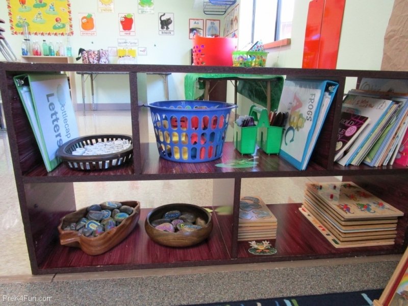 Literacy Center  Preschool Classroom Set up!