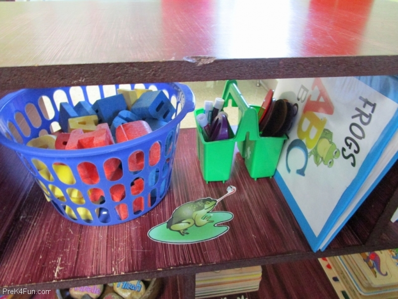Literacy Center Frogs ABC Preschool Classroom Set up!