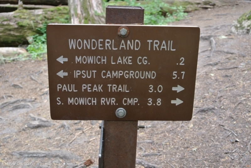 Spray Park Trail sign