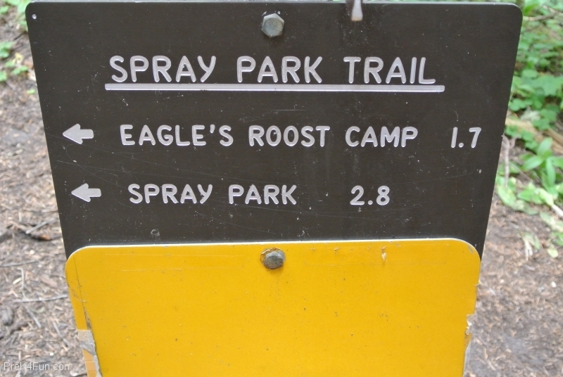 Spray Park Trail sign 1