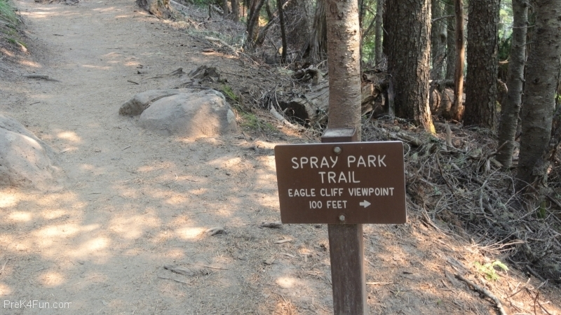 Spray Park Trail sign 3