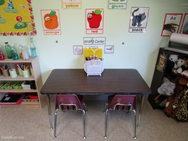 preschool writing center Preschool Classroom Set up!