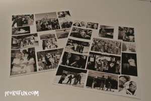 Print photos for our Grad party I used Black and white for Preschool I use color