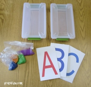 Letter Tracing Box materials
