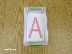 Letter Tracing Box