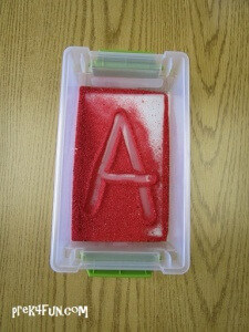 Letter Tracing Box Letter A