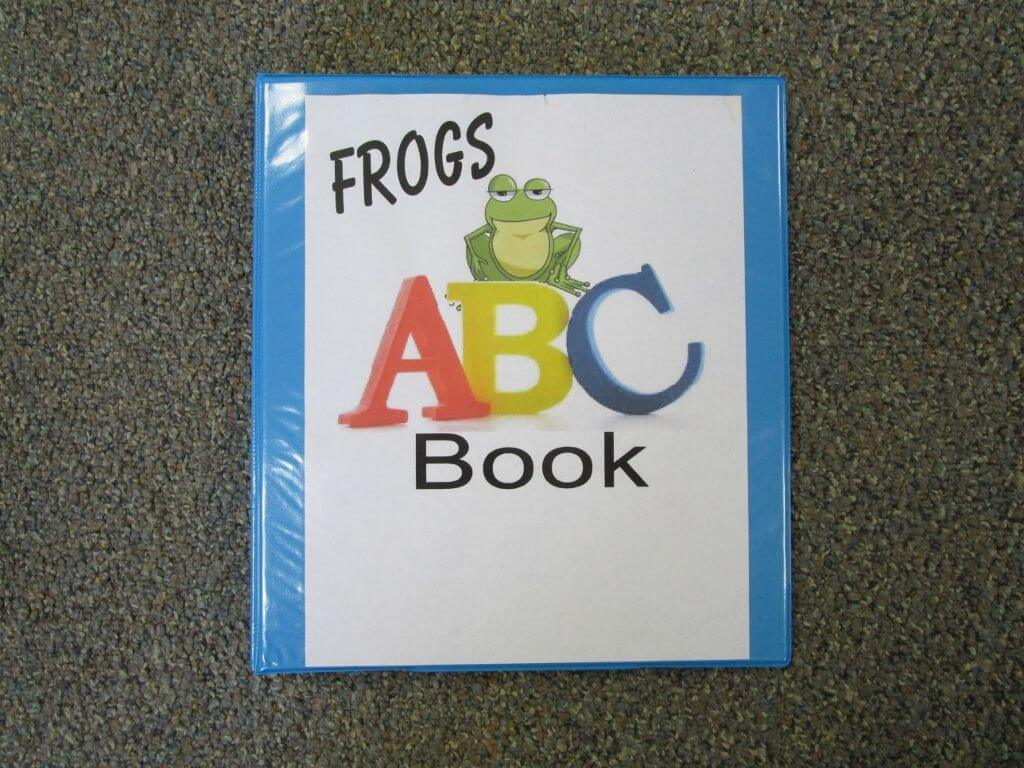 Frogs ABC Book Literacy activity preschool ABC trace the letter