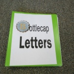 Learn to Spell using recycled bottle caps