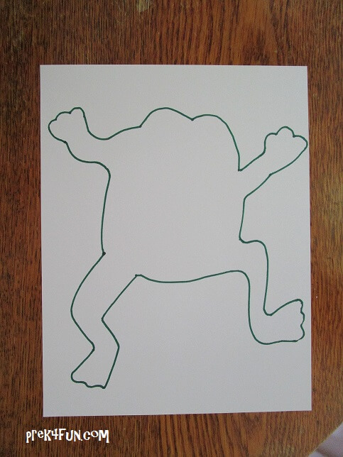Trace out onto white card stock.