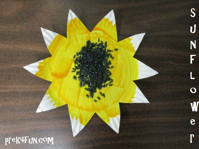 Preschool Paper Plate Sunflower & Preschool Paper Plate Sunflower - PreK4Fun