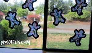 Our classroom windows look Great. As you can tell were a mixed up bunch!