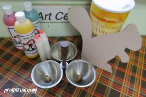 Acorn Paint Squirrel supplies needed