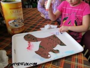 Acorn Squirrel Art glue1