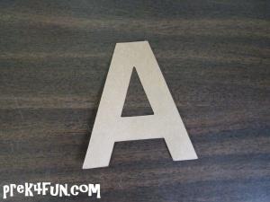 Cut out letter A