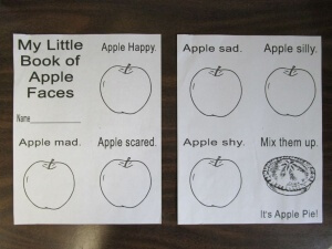 My little book of apple faces template title68)