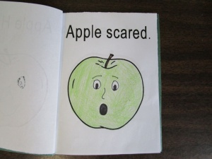 My little book of apple faces scared