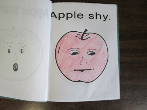 My little book of apple faces shy