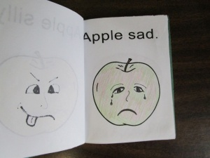 My little book of apple faces sad