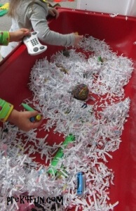 I Spy - Back to School with recycled paper play fun