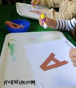 The Ants go Marching Letter A Fingerprint Art fun