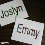 Jello Scented Names: Preschool jello art
