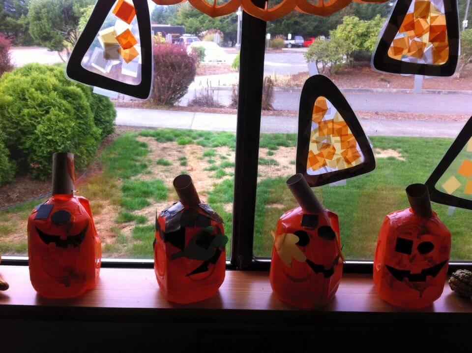 Milk Carton Pumpkins