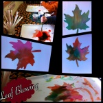 Leaf Blowing Preschool Fall Art
