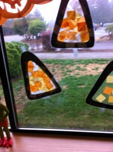 Stained GlassCandy Corn fun 2