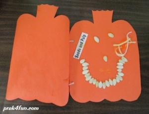 What's Inside a Pumpkin book construction