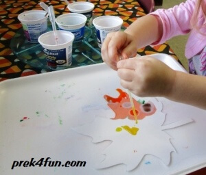 Watercolor Fall Leaf painting 1