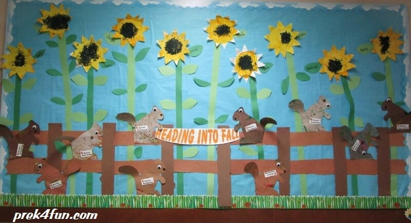 Classroom Ideas Camping Theme ~ Heading into fall bulletin board prek fun