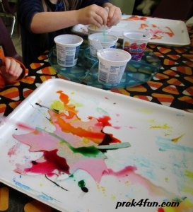 Watercolor Fall Leaf play