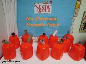 Milk Carton Jack O Lanten pumpkin patch