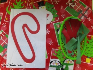 Candy Cane Stained Glass set up 1