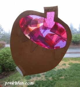 stained glass Acorn 2