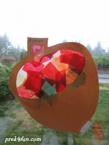 stained glass Acorn 3