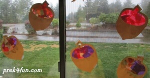 stained glass Acorn 4