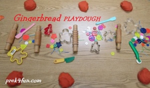 Gingerbread Play Dough set up 1