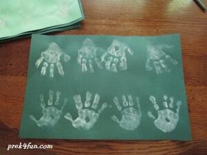 Hand print Christmas Tree page