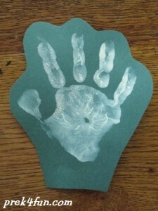 Hand print Christmas Tree cut out